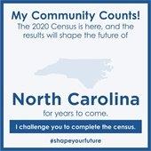 My Community Census graphic showing North Carolina