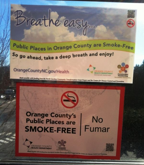 Smoke Free Public Places Window Cling